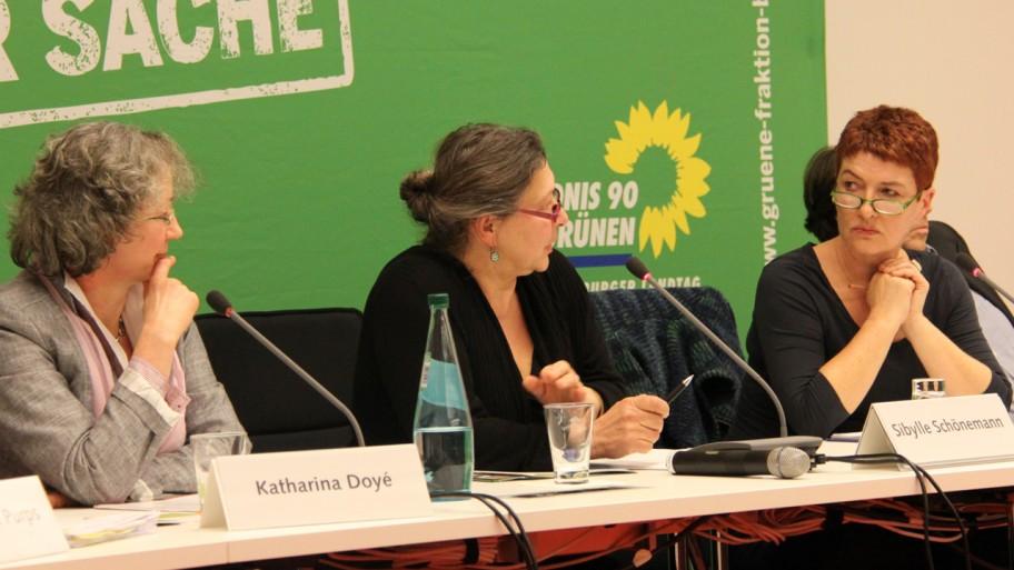 Katharina Doyé, Sibylle Schönemann und Carla Kniestedt  (v.l.n.r.) © Fraktion