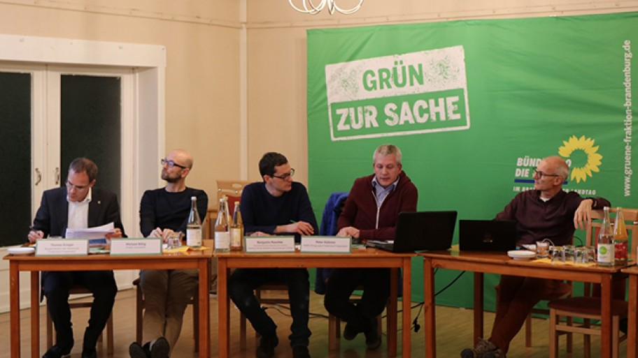 Thomas Krieger, Michael Billig, Benjamin Raschke, Peter Küllmer, Ralf Haida, Foto: A. Straka/Fraktion