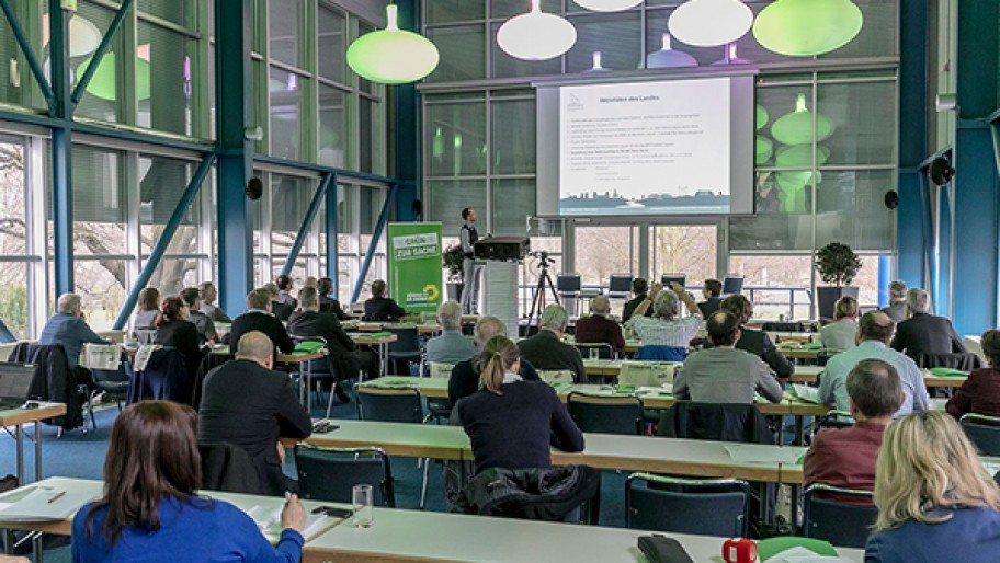 Seminarraum des Batteriegipfels in Cottbus