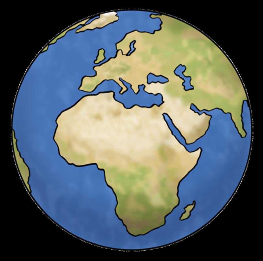 Weltkugel mit dem Blick auf Afrika und Europa