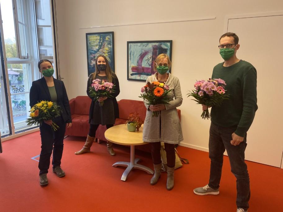Gruppenfoto: Marie Schäffer, Sahra Damus, Petra Budke, Benjamin Raschke
