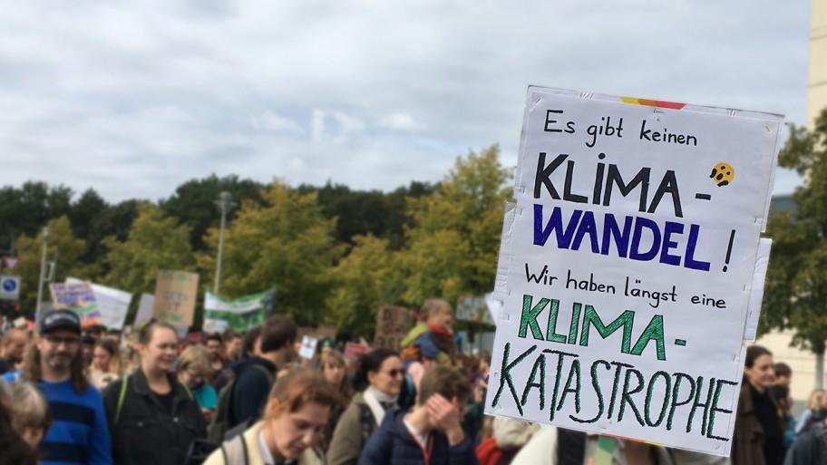 Demoplakat Klimawandel