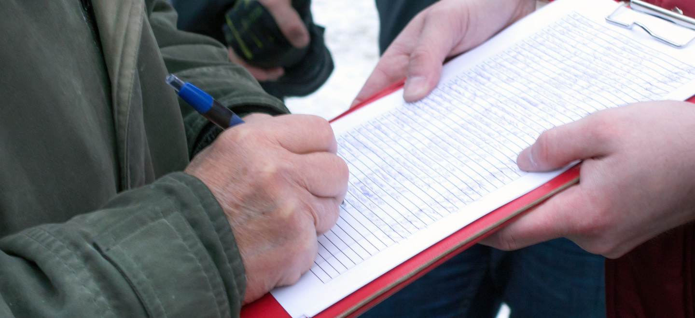Unterschriften sammeln