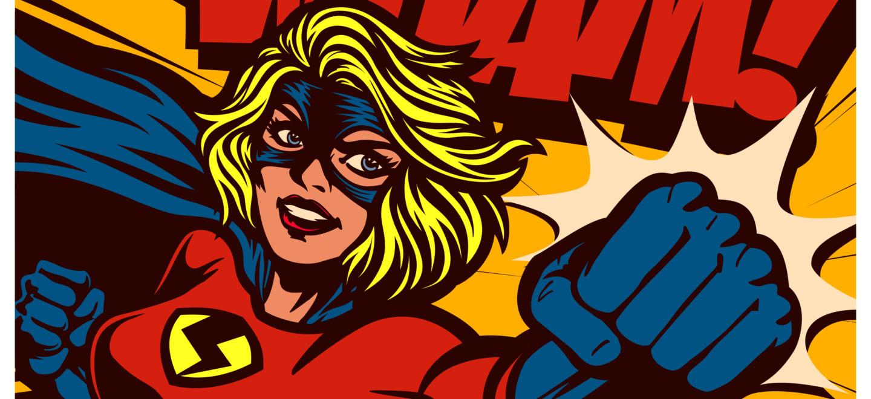 Illustrierte Superwoman